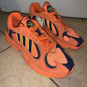 Adidas Yung 1 Total Orange Size 9.5 Goku DBZ